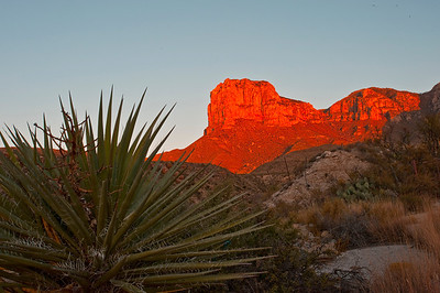 Sunrise on El Capitan, North America, USA, Guadalupe Mountain National Park, Texas
