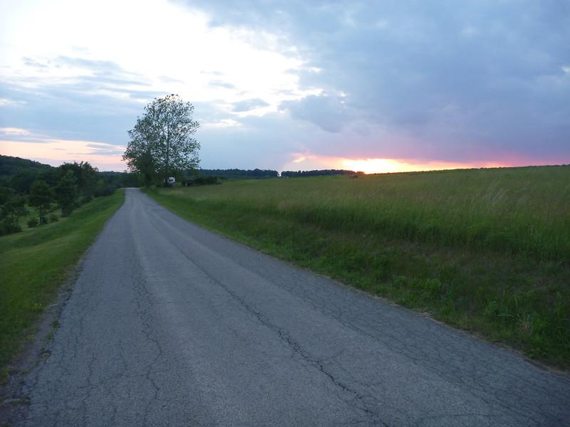 Pennsylvania sunset - Slip Creek Clinic 2012