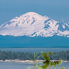 Mt. Baker towers 10,000 feet above Seattle, and is 95 miles from the camera on our deck on Gabriola Island BC