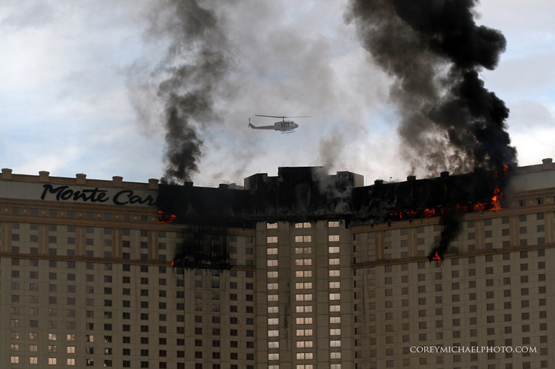 Monte Carlo in Las Vegas on fire
