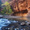 Hiking through The Narrows in Zion