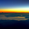 Sunrise over Turkey as seen from the cockpit of an Airbus A380.