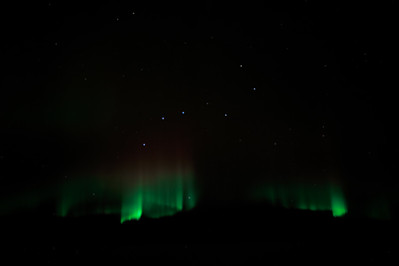 Northern Lights under the Big Dipper over Canada KSFO-OMDB