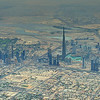 Aerial view of downtown Dubai with the world's tallest building, Burj Khalifa (almost 2900' tall).