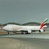 Boeing 747-400F lining up for take off runway 30R Dubai.