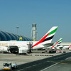 Airbus A380 at the gate, Dubai Airport, UAE. Fly Emirates!