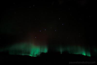 Northern Lights over Canada KSFO-OMDB