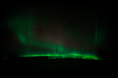Northern Lights over Canada KSFO-OMDB