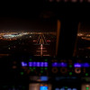 Short final runway 30L Dubai as seen from the cockpit of an Airbus A380.