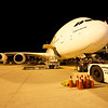 Airbus A380 on the ramp in Incheon, Seoul, South Korea.