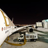 Airbus A380 on the ramp in Dubai.