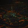 Burj Khalifa, Downtown Dubai from 4000 feet on a right downwind departure off runway 12R in Dubai.