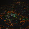 Burj Khalifa, Downtown Dubai from 4000 feet on a right downwind departure off runway 12R in Dubai.