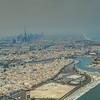 The Creek, Port Rashid and downtown Dubai in the background.
