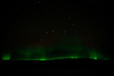 Northern Lights below the Big Dipper over Canada KSFO-OMDB