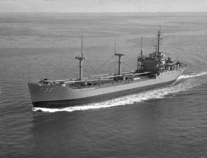USS Corduba (AF-32)<br /> <br /> Date: September 1954<br /> Location: Hampton Roads VA<br /> Source: Nobe Smith - Atlantic Fleet Sales