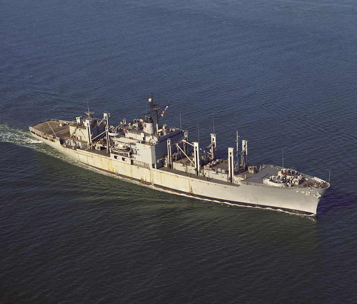 USS Sylvania (AFS-2)<br /> <br /> Date: January 22 1974<br /> Location: Hampton Roads VA<br /> Source: Nobe Smith - Atlantic Fleet Sales