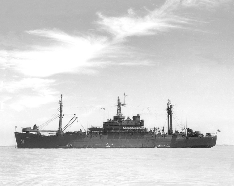 USS Appalachian (AGC-1)<br /> <br /> Date: 1946. Either just before or after Bikini Atoll test.<br /> Location: San Francisco Bay CA<br /> Source: Nobe Smith - Atlantic Fleet Sales