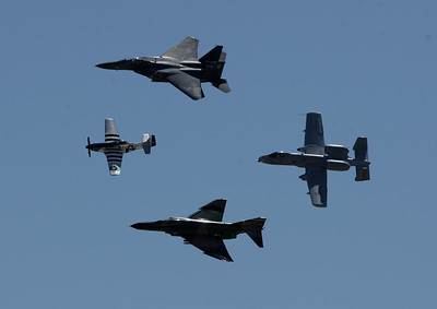Heritage Flight | F-15E Strike Eagle | F-4 Phantom | A-10 warthog | P-51 Mustang