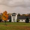 Ancram Town Hall with rainbow-5