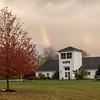 Ancram Town Hall with rainbow-2