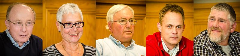 Town Board Members: Hugh Clark, Madeleine Israel, Supervisor Art Bassin, Chris Thomas, Jim Miller