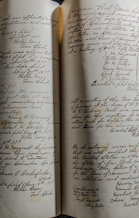 handwritten ledger from Ancram