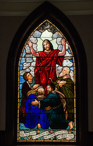 stained glass window in St. John's Lutheran Church in Ancram