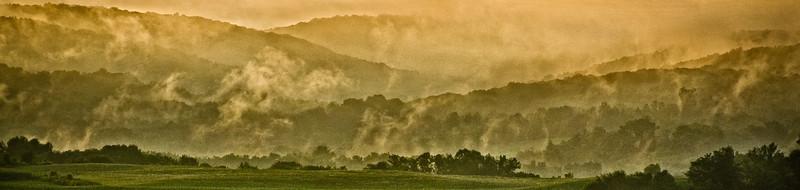 Roche Drive mist after storm