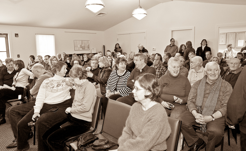 Photography of politics: swearing-in ceremony of new town officials in Ancram, NY. January 1, 2010.