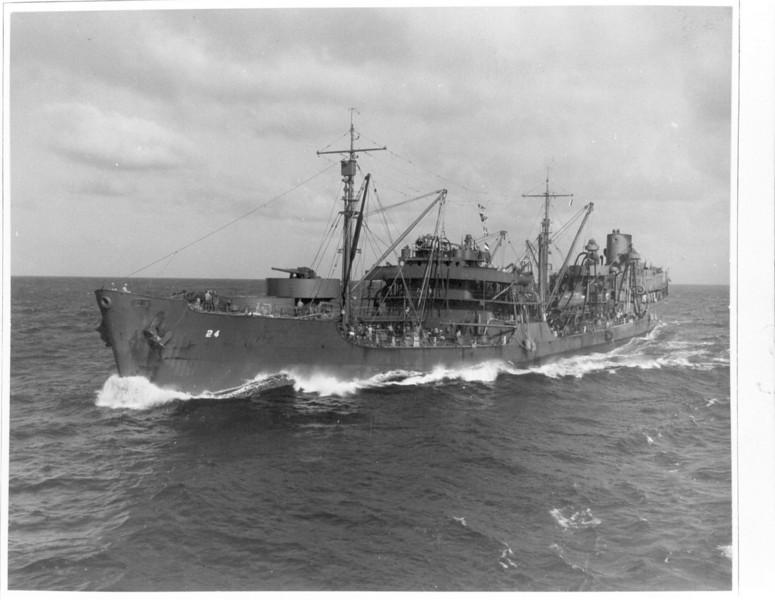 USS Platte (AO-24)<br /> <br /> Date: July 24 1942<br /> Location:  <br /> Source: William Clarke - National Archives