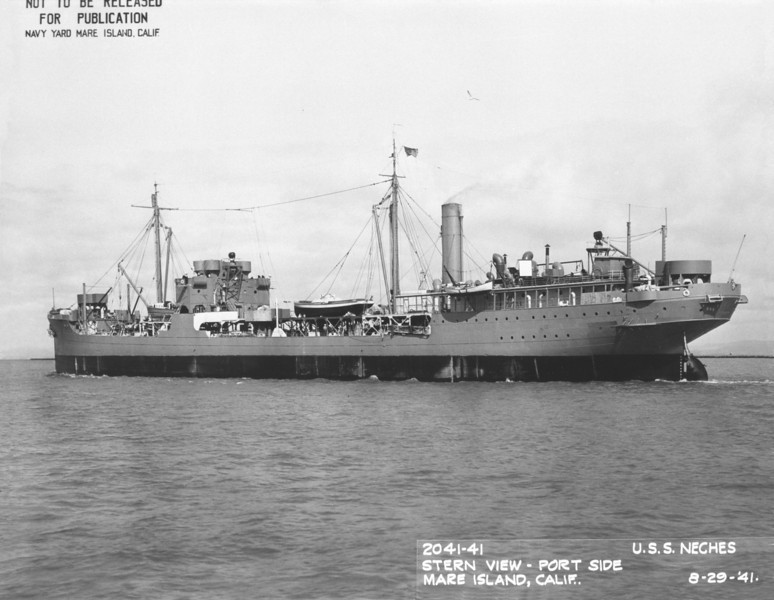 USS Neches (AO-5)<br /> <br /> Date: August 29 1941<br /> Location: Mare Island, CA<br /> Source: William Clarke - National Archives