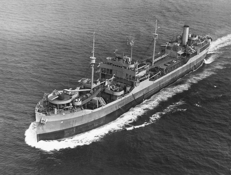 USS Kaweah (AO-15)<br /> <br /> Date:  <br /> Location:  <br /> Source: William Clarke - National Archives