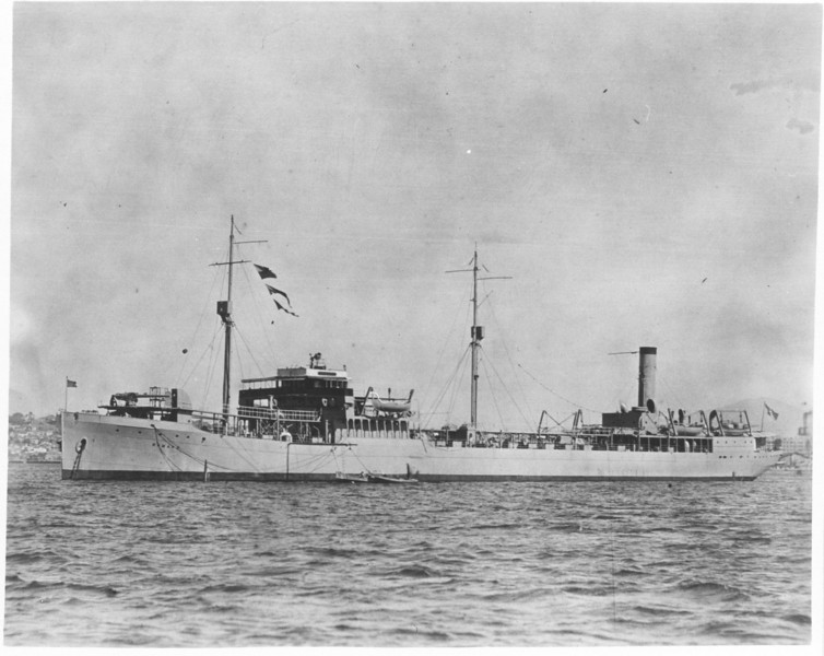 USS Ramapo (AO-12)<br /> <br /> Date:  <br /> Location:  <br /> Source: William Clarke - National Archives