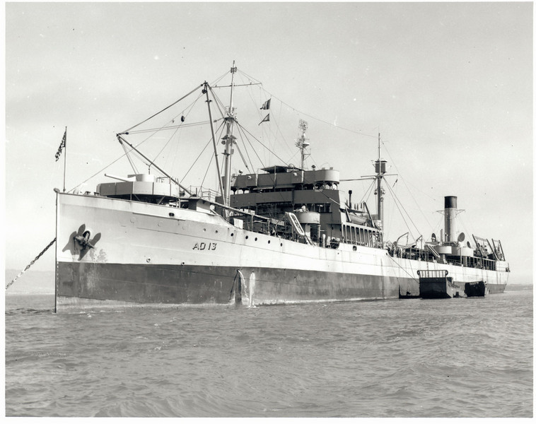 USS Trinity (AO-13)<br /> <br /> Date:  <br /> Location: Mare Island, CA<br /> Source: William Clarke - National Archives