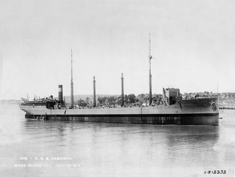 USS Kanawha (AO-1)<br /> <br /> Date: June 23 1915 <br /> Location: Mare Island, CA<br /> Source: William Clarke - National Archives