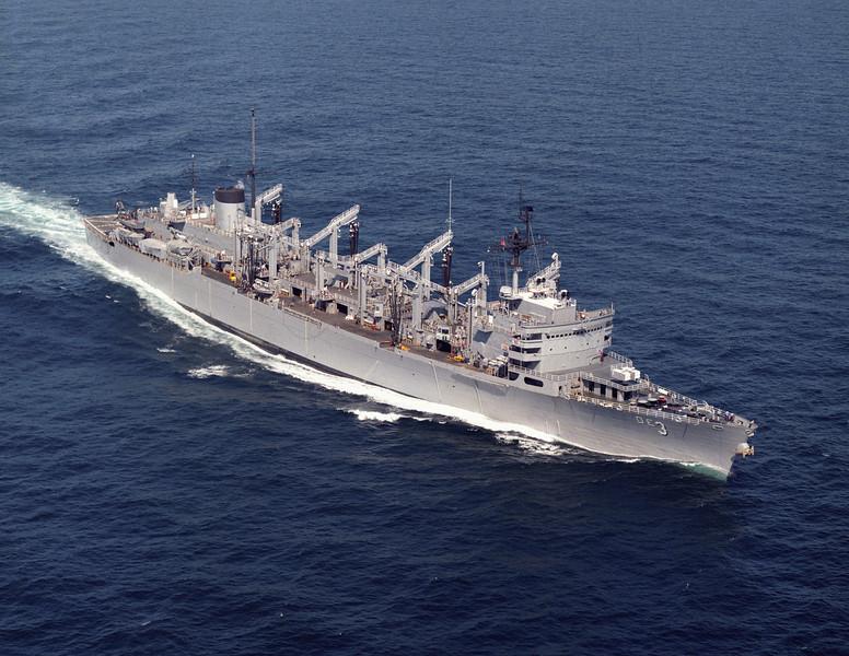 USS Seattle (AOE-3)<br /> <br /> Date: August 27 1985<br /> Location: Hampton Roads, VA<br /> Source: Nobe Smith - Atlantic Fleet Sales