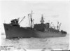 USS Heywood (APA-6)<br /> <br /> Date: April 14 1943<br /> Location: San Diego Bay<br /> Source: William Clarke - National Archives