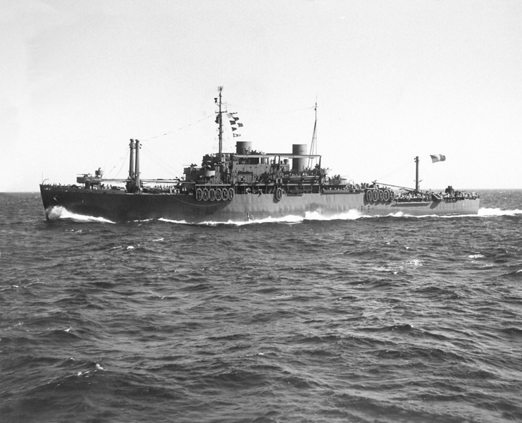 USS Doyen (APA-1)<br /> <br /> Date: <br /> Location:<br /> Source: William Clarke - National Archives