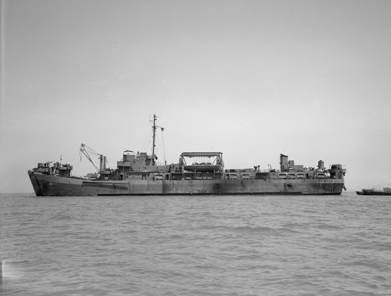 USS Vanderburgh (APB-48)<br /> <br /> Date: Between Apr 1946 Jan 1947<br /> Location: San Francisco Bay CA<br /> Source: Nobe Smith - Atlantic Fleet Sales