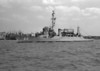 "USS Liddle (APD-60)<br /> <br /> Date: May 17 1953 (negative date)<br /> Location: Possibly Elizabeth River near Norfolk Shipyard<br /> Negative slip says ""Just out of shipyard""<br /> Source: Nobe Smith - Atlantic Fleet Sales"