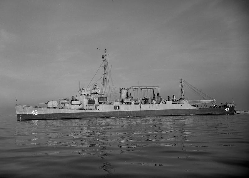 USS George W. Ingram (APD-43)<br /> <br /> Date: Unknown<br /> Location: Unknown<br /> Source: Nobe Smith - Atlantic Fleet Sales
