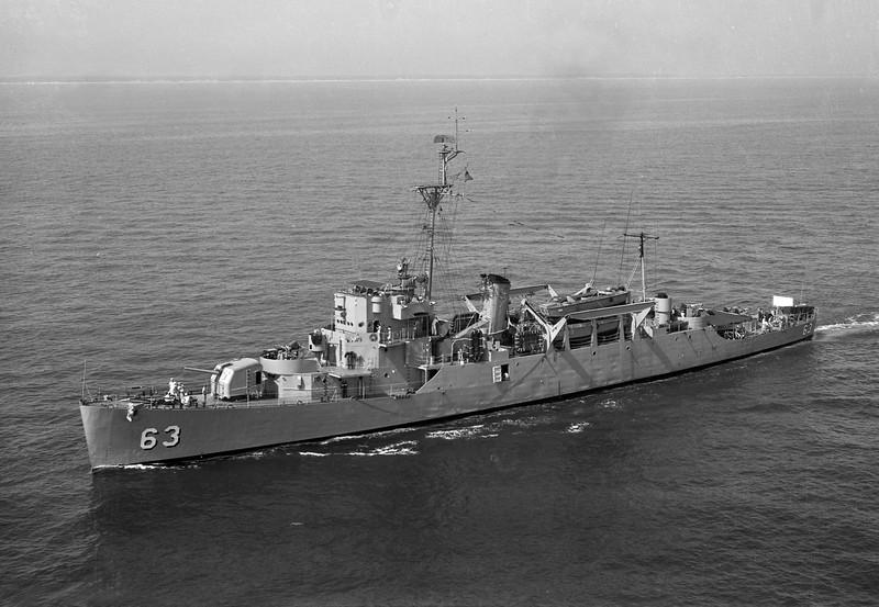 USS Lloyd (APD-63)<br /> <br /> Date: June 1957<br /> Location: Off Virginia Beach VA<br /> Source: Nobe Smith - Atlantic Fleet Sales
