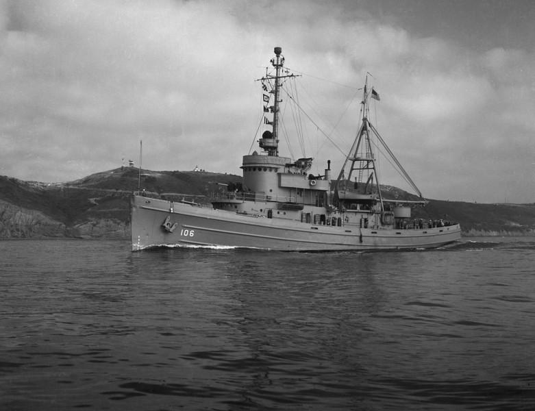 USS Molala  (ATF-106)<br /> <br /> Date: Circa 1949 or earlier<br /> Location: San Diego or San Francisco<br /> Source: Nobe Smith - Atlantic Fleet Sales