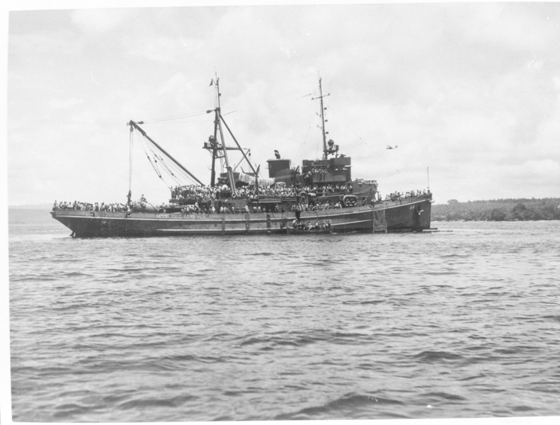 USS Navajo (ATF-64)<br /> <br /> Date: Unknown<br /> Location: Unknown<br /> Source: William Clarke - National Archives