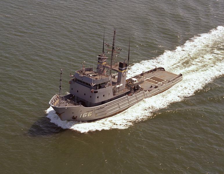 USNS Powhatan (T-ATF-166)<br /> <br /> Date: April 16 1981<br /> Location: Hampton Roads VA<br /> Source: Nobe Smith - Atlantic Fleet Sales