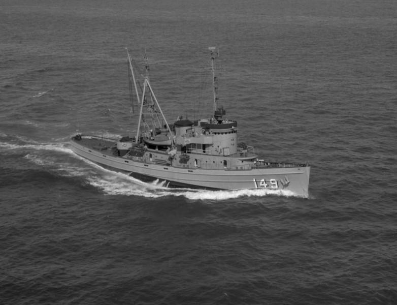 USS Atakapa (ATF-149)<br /> <br /> Date: October 10 1954<br /> Location: Hampton Roads VA<br /> Source: Nobe Smith - Atlantic Fleet Sales