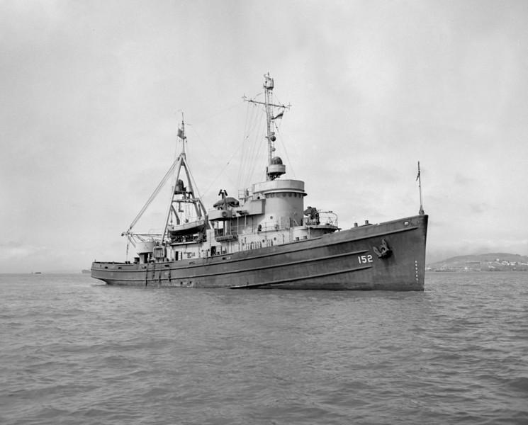 USS Cahuilla (ATF-152)<br /> <br /> Date: 1946<br /> Location: San Diego Bay<br /> Source:  Nobe Smith - Atlantic Fleet Sales