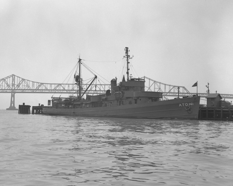 USS Seagull (ATO-141)<br /> <br /> Date:1945-46<br /> Location: San Francisco CA<br /> Source: Nobe Smith - Atlantic Fleet Sales