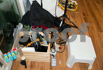Floor, clamps, apple box, stool, extCord 782